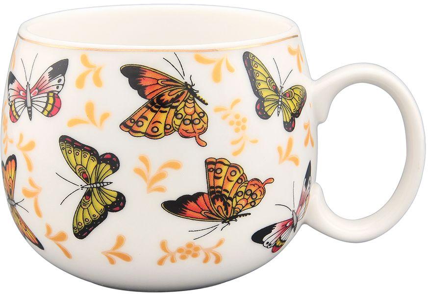 Кружка Elan Gallery Бабочки, 450 мл970054Кружка выполненная из керамики, станет оригинальным подарком! Идеальна для тех, кто предпочитает большие кружки и для любителей душевных чаепитий! Объем 450 мл Не рекомендуется применять абразивные моющие средства.