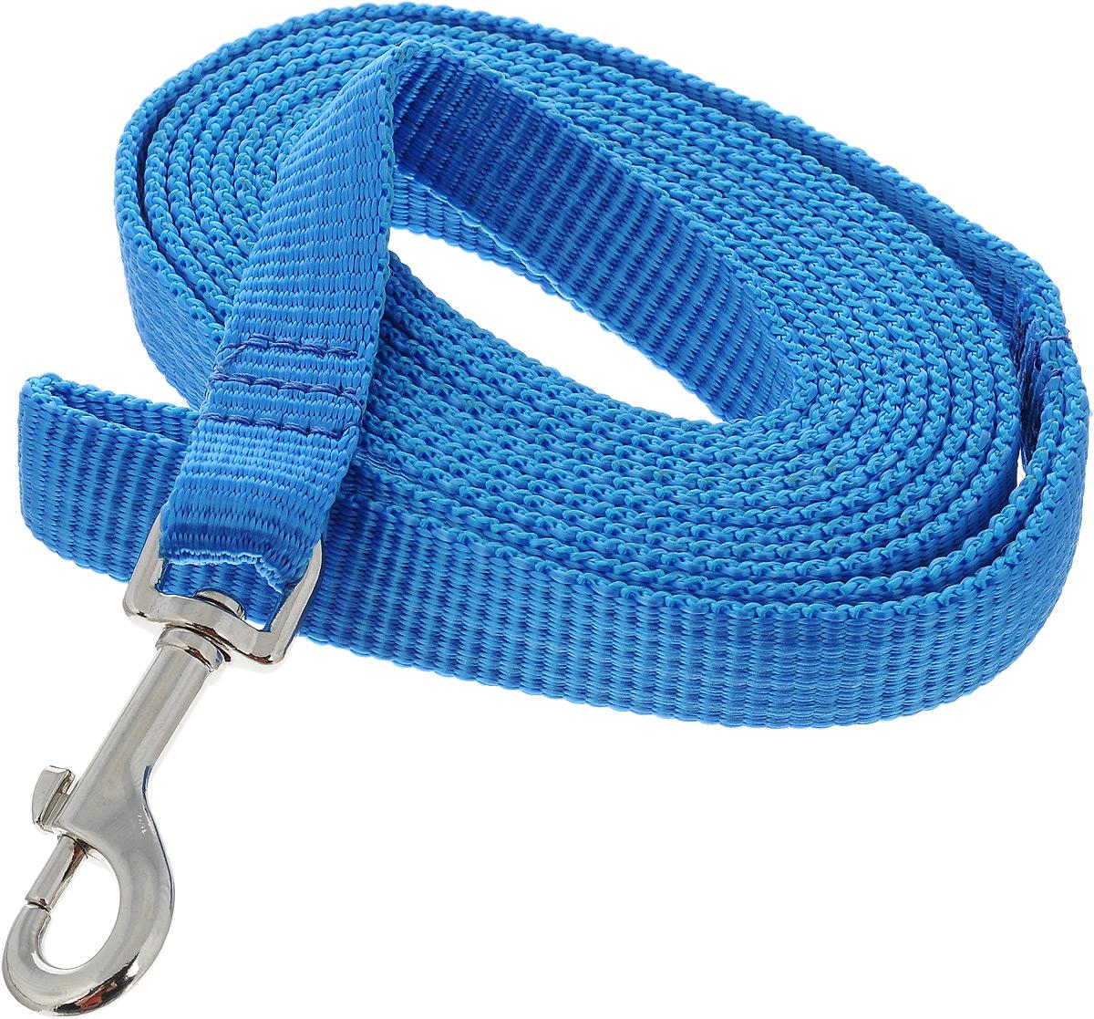 Поводок капроновый для собак Аркон, цвет: голубой, ширина 2 см, длина 3 мпк3м20_голубойПоводок для собак Аркон изготовлен из высококачественного цветного капрона и снабжен металлическим карабином. Изделие отличается не только исключительной надежностью и удобством, но и привлекательным современным дизайном. Поводок - необходимый аксессуар для собаки. Ведь в опасных ситуациях именно он способен спасти жизнь вашему любимому питомцу. Иногда нужно ограничивать свободу своего четвероногого друга, чтобы защитить его или себя от неприятностей на прогулке. Длина поводка: 3 м. Ширина поводка: 2 см. Уважаемые клиенты! Обращаем ваше внимание на то, что товар может содержать светодиодную ленту.