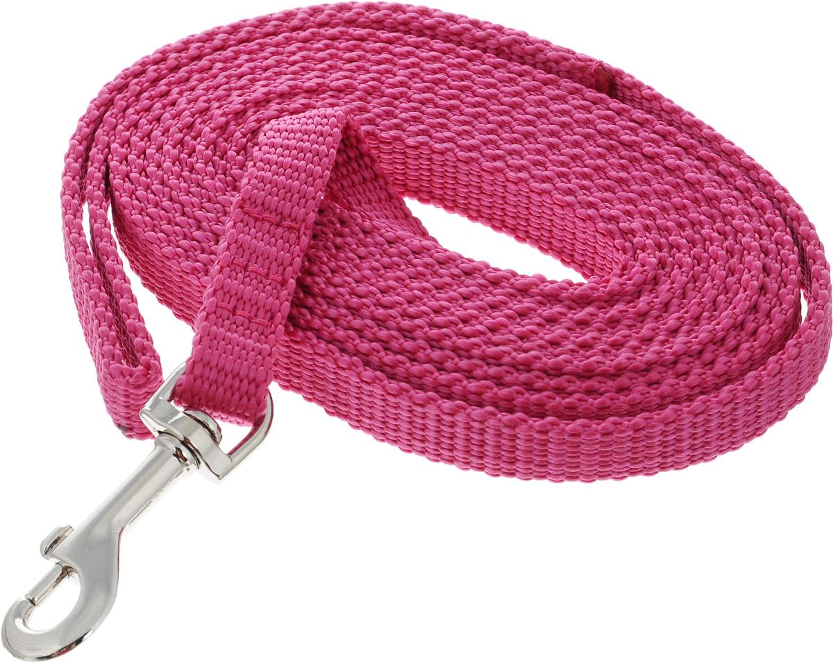 Поводок капроновый для собак Аркон, цвет: розовый, ширина 1,5 см, длина 3 мпк3м15_розовыйПоводок для собак Аркон изготовлен из высококачественного цветного капрона и снабжен металлическим карабином. Изделие отличается не только исключительной надежностью и удобством, но и привлекательным современным дизайном. Поводок - необходимый аксессуар для собаки. Ведь в опасных ситуациях именно он способен спасти жизнь вашему любимому питомцу. Иногда нужно ограничивать свободу своего четвероногого друга, чтобы защитить его или себя от неприятностей на прогулке. Длина поводка: 3 м. Ширина поводка: 1,5 см.