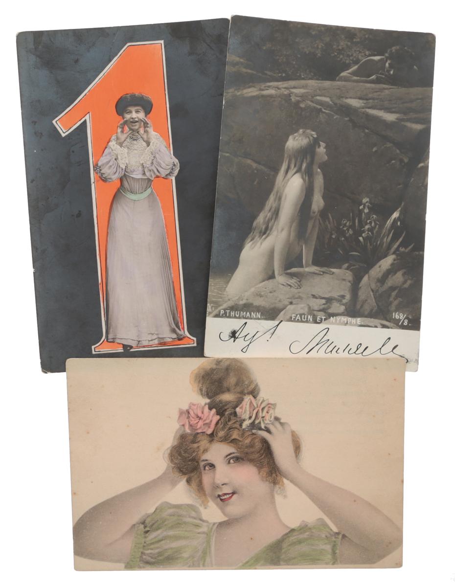 Дамы. Комплект из 3 открыток