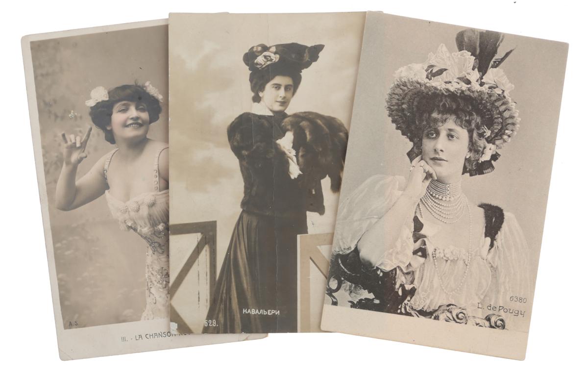 Звезды Прекрасной эпохи. Комплект из 3 открыток
