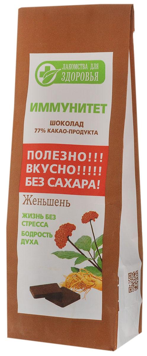 Лакомства для здоровья Шоколад горький с женьшенем, 100 г ШЗг13.100