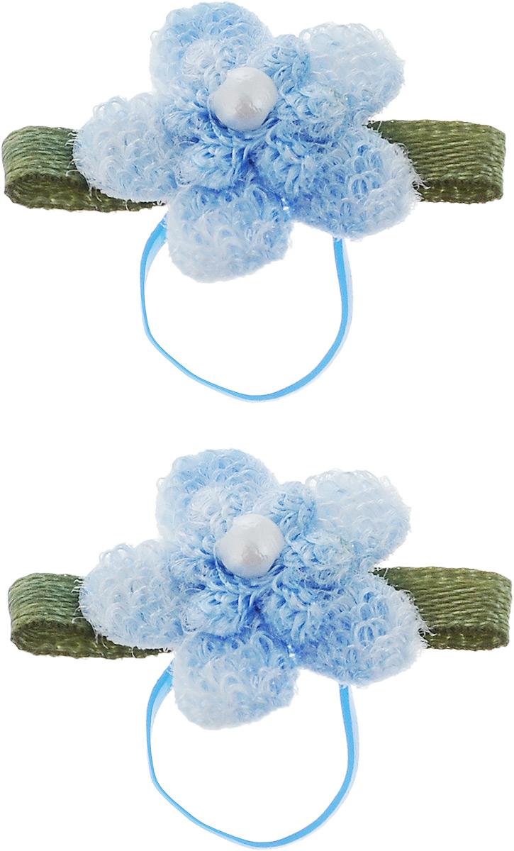 Резинка для животных Каскад Цветочки, цвет: голубой, зеленый, 2,5 х 1,5 см, 2 шт48302320_голубой, зеленыйРезинка для животных Каскад Цветочки - это красивое и стильное украшение для собак мелких пород и других животных. Изделия выполнены из тканей различных структур, плотности и фактуры и латексной резинки. Размер: 2,5 х 1,5 см.