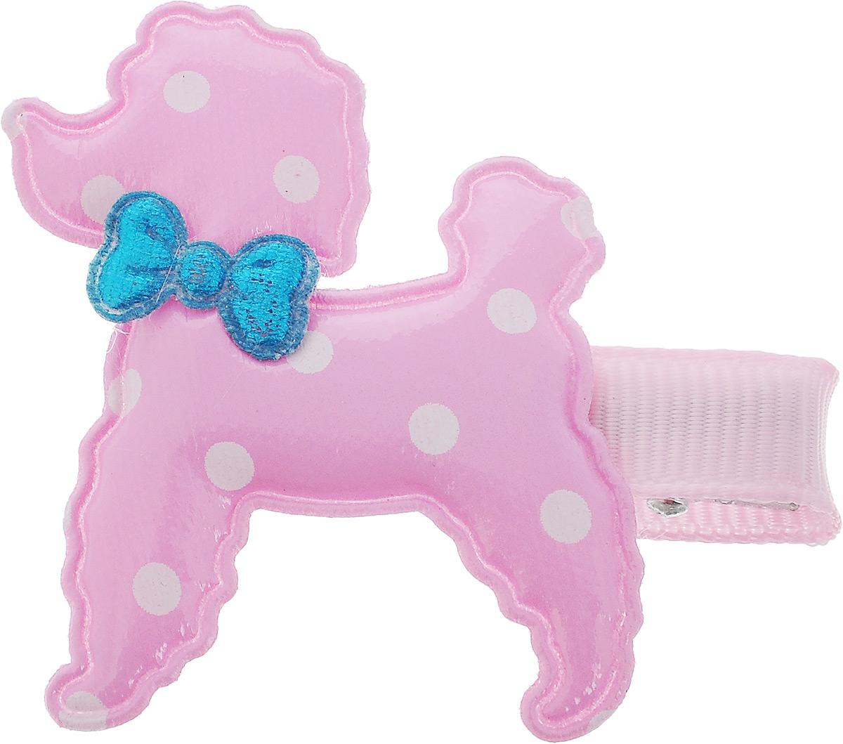 Заколка для животных Каскад Собака, цвет: розовый, белый, голубой, 4 х 5 см48302321_розовый, белый, голубойЗаколка для животных Каскад Собака - это красивое и стильное украшение для собак мелких пород. Заколка прекрасно крепится на шерсти и позволяет фиксировать ее. Изделие выполнено из ткани, ПВХ и металла. Размер: 4 х 5 см.