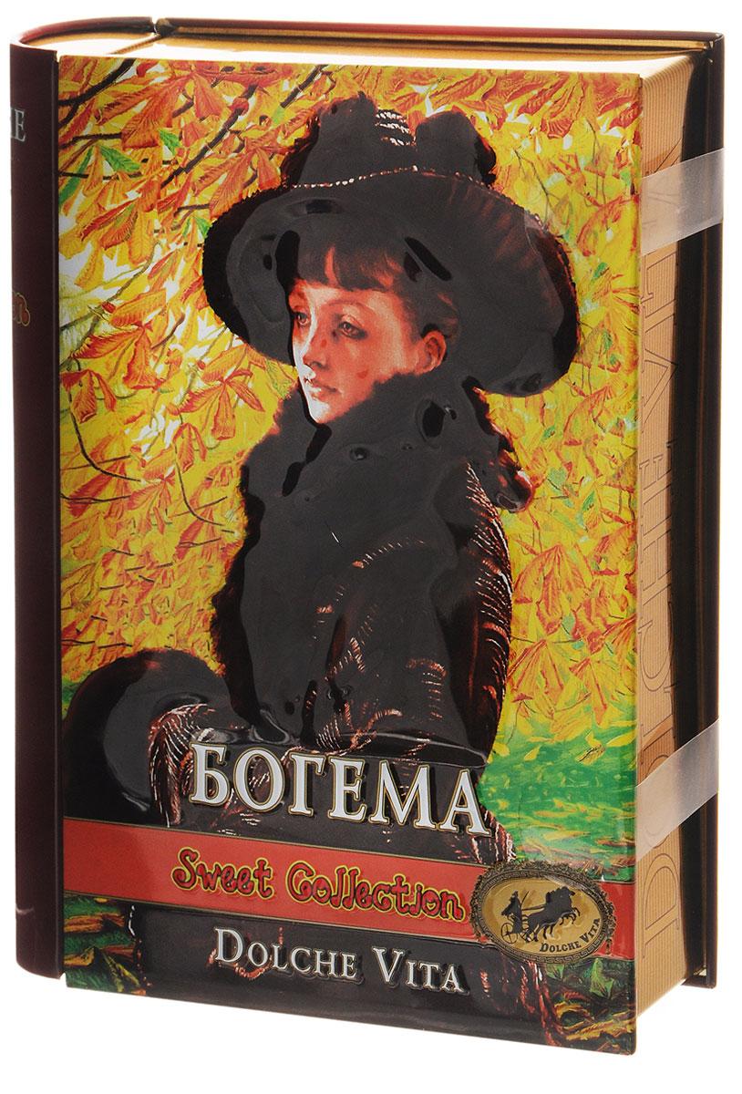 Dolche Vita Богема элитный ароматизированный черный листовой чай, 100 г (подарочная шкатулка)21601Элитный черный листовой чай Dolche Vita Богема - цейлонский крупнолистовой чай с ягодами красной смородины и малины, цветками василька, лепестками сафлора, с ароматом клубники, малины и чёрной смородины в жестяной банке. Уважаемые клиенты! Обращаем ваше внимание, что полный перечень состава продукта представлен на дополнительном изображении.