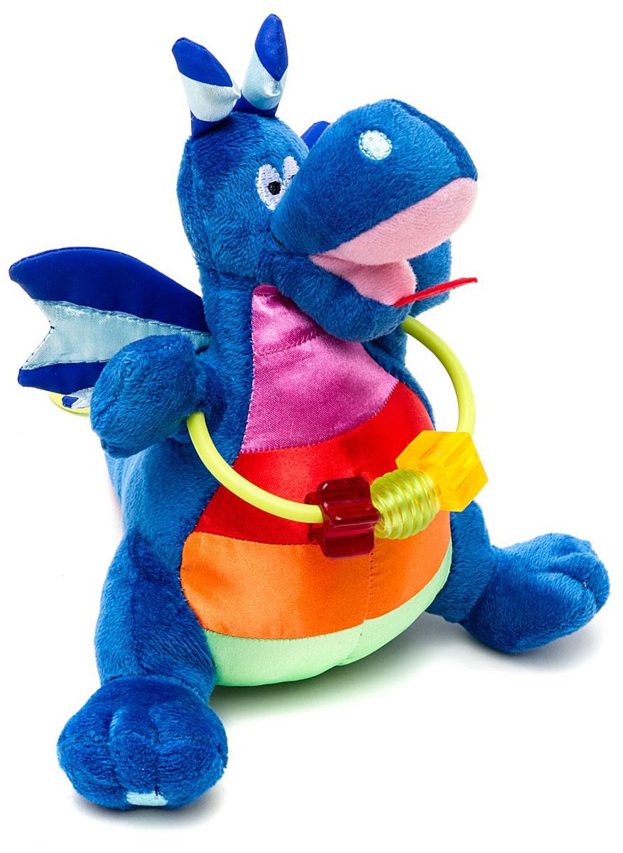 WeeWise Музыкальная игрушка-подвеска Дракон Джеки20113Музыкальная игрушка-подвеска WeeWise Дракон Джеки крепится к козырьку-тенту прогулочной коляски или к ручке детского автокресла. Игрушка выполнена в ярких цветах, обладает движущимися частями и снабжена звуковыми элементами. Дракон Джеки способствует развитию зрительного, слухового и тактильного восприятия. Стимулирует хватательные навыки ребенка, помогает тренировке мелкой моторики рук, стимулирует любопытство и навыки исследования.