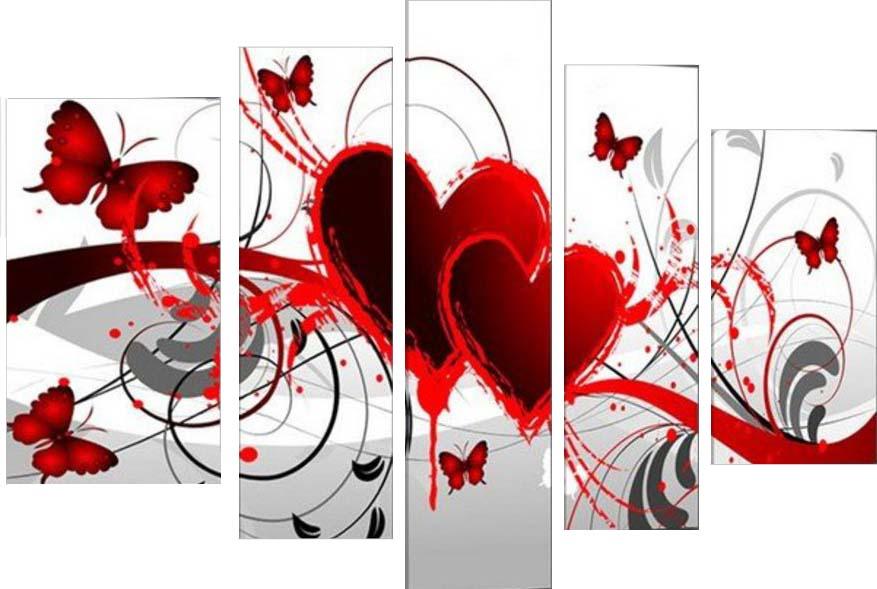 Картина Арт78 Сердце, модульная, 200 см х 120 см. арт780001арт780001Ничто так не облагораживает интерьер, как хорошая картина. Особенную атмосферу создаст крупное художественное полотно, размеры которого более метра. Подобные произведения искусства, выполненные в традиционной технике (холст, масляные краски), чрезвычайно капризны: требуют сложного ухода, регулярной реставрации, особого микроклимата – поэтому они просто не могут существовать в условиях обычной городской квартиры или загородного коттеджа, и требуют больших затрат. Данное полотно идеально приспособлено для создания изысканной обстановки именно у Вас. Это полотно создано с использованием как традиционных натуральных материалов (холст, подрамник - сосна), так и материалов нового поколения – краски, фактурный гель (придающий картине внешний вид масляной живописи, и защищающий ее от внешнего воздействия). Благодаря такой композиции, картина выглядит абсолютно естественно, и отличить ее от традиционной техники может только специалист. Но при этом изображение отлично смотрится с любого...