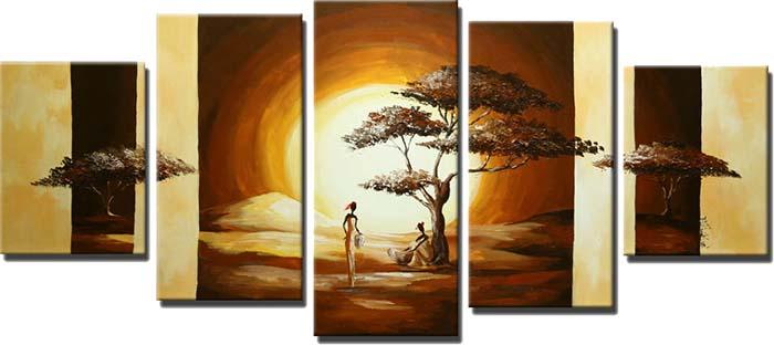 Картина Арт78 Дерево на закате, модульная, 200 х 120 см. арт780053арт780053Ничто так не облагораживает интерьер, как хорошая картина. Особенную атмосферу создаст крупное художественное полотно, размеры которого более метра. Подобные произведения искусства, выполненные в традиционной технике (холст, масляные краски), чрезвычайно капризны: требуют сложного ухода, регулярной реставрации, особого микроклимата – поэтому они просто не могут существовать в условиях обычной городской квартиры или загородного коттеджа, и требуют больших затрат. Данное полотно идеально приспособлено для создания изысканной обстановки именно у Вас. Это полотно создано с использованием как традиционных натуральных материалов (холст, подрамник - сосна), так и материалов нового поколения – краски, фактурный гель (придающий картине внешний вид масляной живописи, и защищающий ее от внешнего воздействия). Благодаря такой композиции, картина выглядит абсолютно естественно, и отличить ее от традиционной техники может только специалист. Но при этом изображение отлично...