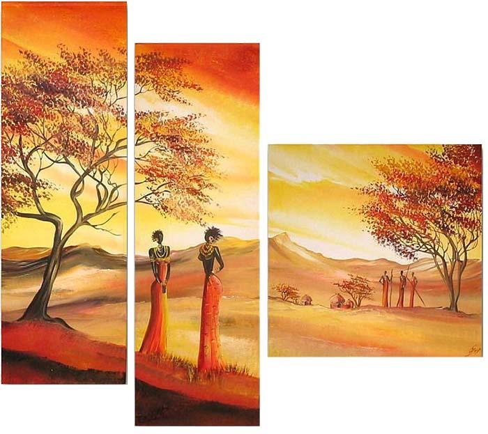 Картина Арт78 Силуэт, модульная, 170 х 120 см. арт780058арт780058Ничто так не облагораживает интерьер, как хорошая картина. Особенную атмосферу создаст крупное художественное полотно, размеры которого более метра. Подобные произведения искусства, выполненные в традиционной технике (холст, масляные краски), чрезвычайно капризны: требуют сложного ухода, регулярной реставрации, особого микроклимата – поэтому они просто не могут существовать в условиях обычной городской квартиры или загородного коттеджа, и требуют больших затрат. Данное полотно идеально приспособлено для создания изысканной обстановки именно у Вас. Это полотно создано с использованием как традиционных натуральных материалов (холст, подрамник - сосна), так и материалов нового поколения – краски, фактурный гель (придающий картине внешний вид масляной живописи, и защищающий ее от внешнего воздействия). Благодаря такой композиции, картина выглядит абсолютно естественно, и отличить ее от традиционной техники может только специалист. Но при этом изображение отлично...
