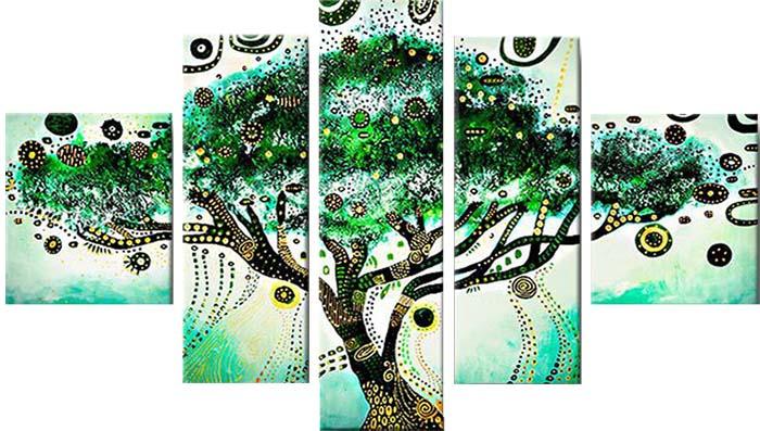 Картина Арт78 Дерево желаний, модульная, 200 х 120 см. арт780083арт780083Ничто так не облагораживает интерьер, как хорошая картина. Особенную атмосферу создаст крупное художественное полотно, размеры которого более метра. Подобные произведения искусства, выполненные в традиционной технике (холст, масляные краски), чрезвычайно капризны: требуют сложного ухода, регулярной реставрации, особого микроклимата – поэтому они просто не могут существовать в условиях обычной городской квартиры или загородного коттеджа, и требуют больших затрат. Данное полотно идеально приспособлено для создания изысканной обстановки именно у Вас. Это полотно создано с использованием как традиционных натуральных материалов (холст, подрамник - сосна), так и материалов нового поколения – краски, фактурный гель (придающий картине внешний вид масляной живописи, и защищающий ее от внешнего воздействия). Благодаря такой композиции, картина выглядит абсолютно естественно, и отличить ее от традиционной техники может только специалист. Но при этом изображение отлично...