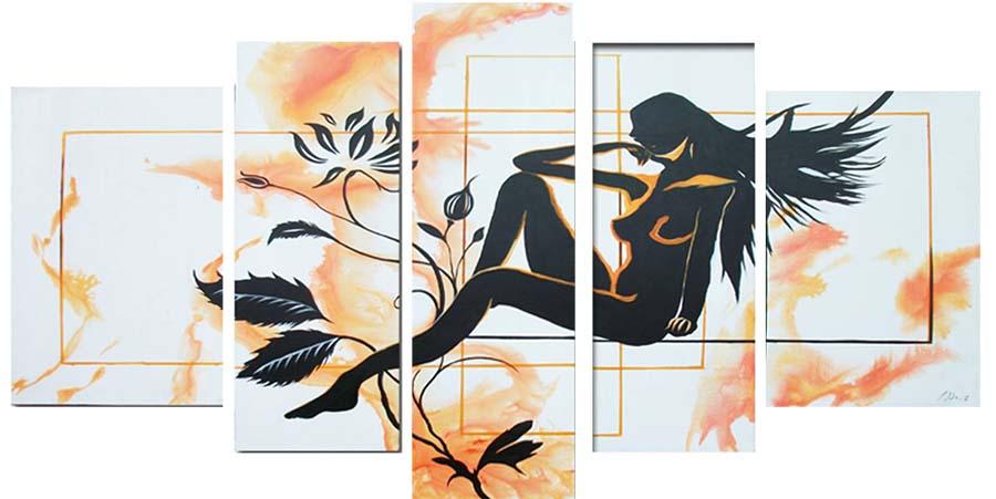 Картина Арт78 Девушка и цветок, модульная, 200 х 120 см. арт780096арт780096Ничто так не облагораживает интерьер, как хорошая картина. Особенную атмосферу создаст крупное художественное полотно, размеры которого более метра. Подобные произведения искусства, выполненные в традиционной технике (холст, масляные краски), чрезвычайно капризны: требуют сложного ухода, регулярной реставрации, особого микроклимата – поэтому они просто не могут существовать в условиях обычной городской квартиры или загородного коттеджа, и требуют больших затрат. Данное полотно идеально приспособлено для создания изысканной обстановки именно у Вас. Это полотно создано с использованием как традиционных натуральных материалов (холст, подрамник - сосна), так и материалов нового поколения – краски, фактурный гель (придающий картине внешний вид масляной живописи, и защищающий ее от внешнего воздействия). Благодаря такой композиции, картина выглядит абсолютно естественно, и отличить ее от традиционной техники может только специалист. Но при этом изображение отлично...
