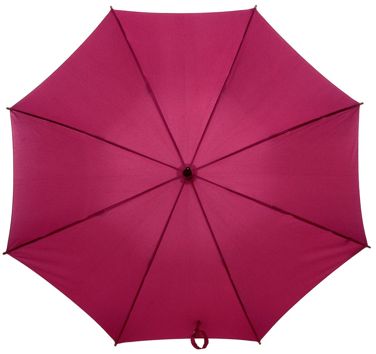 Зонт-трость женский Fulton Kensington, механический, цвет: бордовый. L776-5S025L776-5S025 BerryМодный механический зонт-трость Fulton Kensington даже в ненастную погоду позволит вам оставаться стильной и элегантной. Каркас зонта состоит из 8 спиц и стержня из фибергласса. Купол зонта выполнен из прочного полиэстера. Изделие оснащено удобной рукояткой из дерева. Зонт механического сложения: купол открывается и закрывается вручную до характерного щелчка. Модель закрывается при помощи двух хлястиков на кнопках. Такой зонт не только надежно защитит вас от дождя, но и станет стильным аксессуаром, который идеально подчеркнет ваш неповторимый образ.