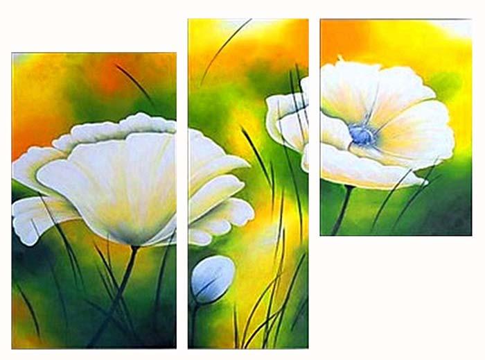 Картина Арт78 Цветок, модульная, 90 х 60 см. арт780049-3арт780049-3Ничто так не облагораживает интерьер, как хорошая картина. Особенную атмосферу создаст крупное художественное полотно, размеры которого более метра. Подобные произведения искусства, выполненные в традиционной технике (холст, масляные краски), чрезвычайно капризны: требуют сложного ухода, регулярной реставрации, особого микроклимата – поэтому они просто не могут существовать в условиях обычной городской квартиры или загородного коттеджа, и требуют больших затрат. Данное полотно идеально приспособлено для создания изысканной обстановки именно у Вас. Это полотно создано с использованием как традиционных натуральных материалов (холст, подрамник - сосна), так и материалов нового поколения – краски, фактурный гель (придающий картине внешний вид масляной живописи, и защищающий ее от внешнего воздействия). Благодаря такой композиции, картина выглядит абсолютно естественно, и отличить ее от традиционной техники может только специалист. Но при этом изображение отлично...