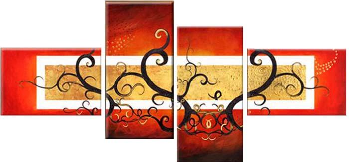 Картина Арт78 Ветви, модульная, 135 х 90 см. арт780050-2арт780050-2Ничто так не облагораживает интерьер, как хорошая картина. Особенную атмосферу создаст крупное художественное полотно, размеры которого более метра. Подобные произведения искусства, выполненные в традиционной технике (холст, масляные краски), чрезвычайно капризны: требуют сложного ухода, регулярной реставрации, особого микроклимата – поэтому они просто не могут существовать в условиях обычной городской квартиры или загородного коттеджа, и требуют больших затрат. Данное полотно идеально приспособлено для создания изысканной обстановки именно у Вас. Это полотно создано с использованием как традиционных натуральных материалов (холст, подрамник - сосна), так и материалов нового поколения – краски, фактурный гель (придающий картине внешний вид масляной живописи, и защищающий ее от внешнего воздействия). Благодаря такой композиции, картина выглядит абсолютно естественно, и отличить ее от традиционной техники может только специалист. Но при этом изображение отлично...