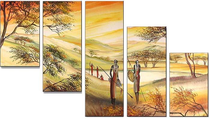 Картина Арт78 Воины, модульная, 140 х 80 см. арт780062-2арт780062-2Ничто так не облагораживает интерьер, как хорошая картина. Особенную атмосферу создаст крупное художественное полотно, размеры которого более метра. Подобные произведения искусства, выполненные в традиционной технике (холст, масляные краски), чрезвычайно капризны: требуют сложного ухода, регулярной реставрации, особого микроклимата – поэтому они просто не могут существовать в условиях обычной городской квартиры или загородного коттеджа, и требуют больших затрат. Данное полотно идеально приспособлено для создания изысканной обстановки именно у Вас. Это полотно создано с использованием как традиционных натуральных материалов (холст, подрамник - сосна), так и материалов нового поколения – краски, фактурный гель (придающий картине внешний вид масляной живописи, и защищающий ее от внешнего воздействия). Благодаря такой композиции, картина выглядит абсолютно естественно, и отличить ее от традиционной техники может только специалист. Но при этом изображение отлично...