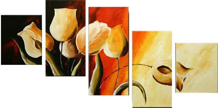 Картина Арт78 Белые тюльпаны, модульная, 90 х 60 см. арт780085-3арт780085-3Ничто так не облагораживает интерьер, как хорошая картина. Особенную атмосферу создаст крупное художественное полотно, размеры которого более метра. Подобные произведения искусства, выполненные в традиционной технике (холст, масляные краски), чрезвычайно капризны: требуют сложного ухода, регулярной реставрации, особого микроклимата – поэтому они просто не могут существовать в условиях обычной городской квартиры или загородного коттеджа, и требуют больших затрат. Данное полотно идеально приспособлено для создания изысканной обстановки именно у Вас. Это полотно создано с использованием как традиционных натуральных материалов (холст, подрамник - сосна), так и материалов нового поколения – краски, фактурный гель (придающий картине внешний вид масляной живописи, и защищающий ее от внешнего воздействия). Благодаря такой композиции, картина выглядит абсолютно естественно, и отличить ее от традиционной техники может только специалист. Но при этом изображение отлично...