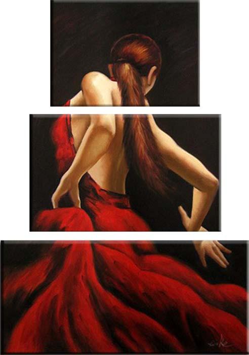 Картина Арт78 Страсть, модульная, 80 х 120 см. арт780105-2арт780105-2Ничто так не облагораживает интерьер, как хорошая картина. Особенную атмосферу создаст крупное художественное полотно, размеры которого более метра. Подобные произведения искусства, выполненные в традиционной технике (холст, масляные краски), чрезвычайно капризны: требуют сложного ухода, регулярной реставрации, особого микроклимата – поэтому они просто не могут существовать в условиях обычной городской квартиры или загородного коттеджа, и требуют больших затрат. Данное полотно идеально приспособлено для создания изысканной обстановки именно у Вас. Это полотно создано с использованием как традиционных натуральных материалов (холст, подрамник - сосна), так и материалов нового поколения – краски, фактурный гель (придающий картине внешний вид масляной живописи, и защищающий ее от внешнего воздействия). Благодаря такой композиции, картина выглядит абсолютно естественно, и отличить ее от традиционной техники может только специалист. Но при этом изображение отлично...