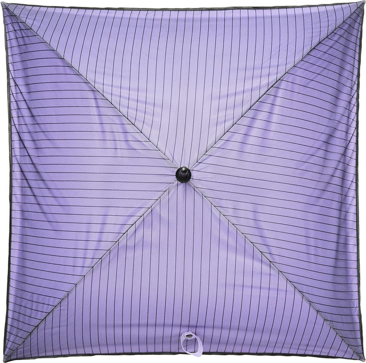Зонт-трость Pique, цвет: черный, сиреневый10102701Каркас зонта Pique выполнен из четырех спиц. Зонт имеет полуавтоматический механизм складывания-раскладывания: купол открывается путем нажатия кнопки на рукоятке; складывается зонт вручную до характерного щелчка. Рукоятка изготовлена из натурального дерева и имеет закругленную форму. Купол зонта выполнен из тефлона и гипюра, края зонта оформлены рюшами. Коллекция аксессуаров Chic&Choc предназначена исключительно для женщин! Элитные французские зонты станут блестящим дополнением к наряду и помогут создать неповторимый образ, полный романтичности, женственности и кокетства.