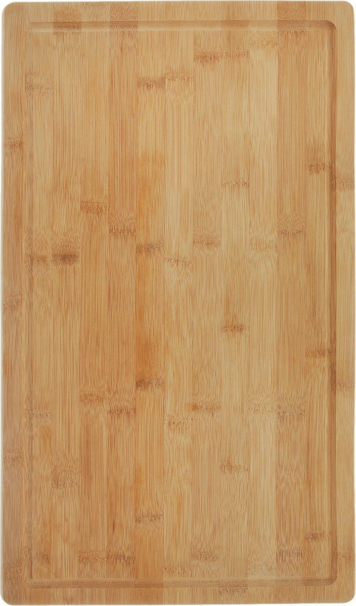 Доска разделочная Kesper, на ножках, 50 х 28 х 4 см5859-1Разделочная доска Kesper изготовлена из бамбука и оснащена пластиковыми ножками. Наличие канавки по краю изделия поможет предотвратить вытекание сока от продуктов за пределы доски. Функциональные и простые в использовании, разделочные доски Kesper прекрасно впишутся в интерьер любой кухни и прослужат вам долгие годы. Размер: 50 х 28 х 4 см.