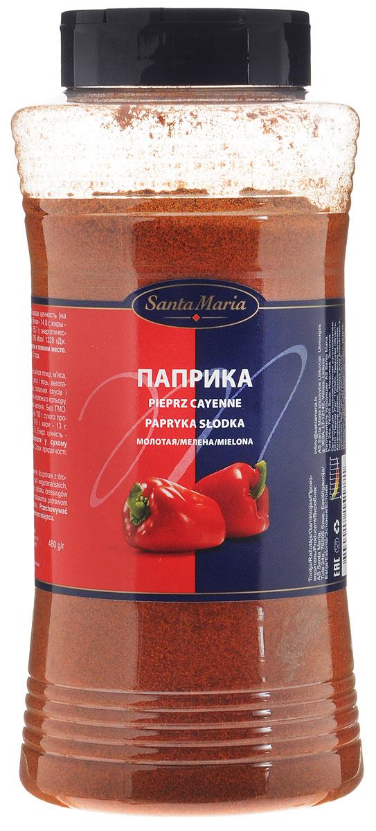 Santa Maria Паприка молотая, 480 г15177Паприка обладает мягким сладковатым вкусом. При нагревании придает блюдам ярко - красный цвет и насыщенный аромат. Прекрасно сочетается с мясом, птицей, овощами. Упаковка может иметь несколько видов дизайна. Поставка осуществляется в зависимости от наличия на складе.