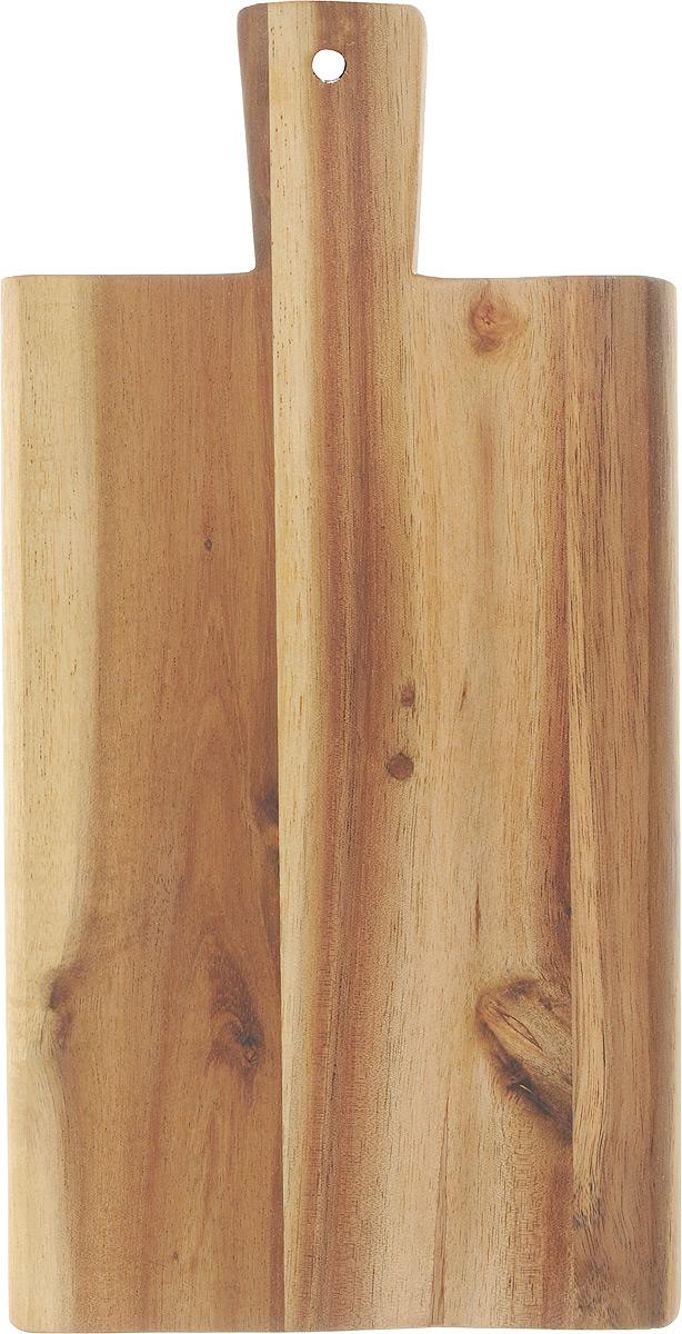 Доска разделочная Kesper, с ручкой, 29 х 14 см. 2019-02019-0Доска разделочная с ручкой изготовлена из дерева акации. Акация считается самым твердым деревом.Поэтому изделия из акации являются прочными.Доска прекрасно подходит для приготовления и сервировки пищи. Всем известно, что на кухне без разделочной доски не обойтись! Ведь во время приготовления пищи мы то и дело что-то режем. Поэтому разделочная доска должна быть изготовлена из прочного и экологически чистого материала, ведь с ней соприкасается наша пища.