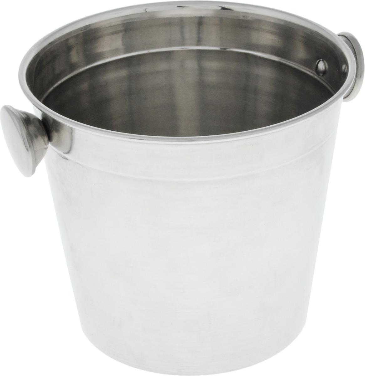 Ведерко для льда SSW, 10 х 13 х 11,3 см477296Ведерко для льда SSW выполнено из нержавеющей стали с глянцевой полировкой. Такая емкость будет актуальна на банкетах и фуршетах, если в меню есть напитки, которые следует подавать со льдом. Это удобно и эстетично. Размер: 10 х 13 х 11,3 см.