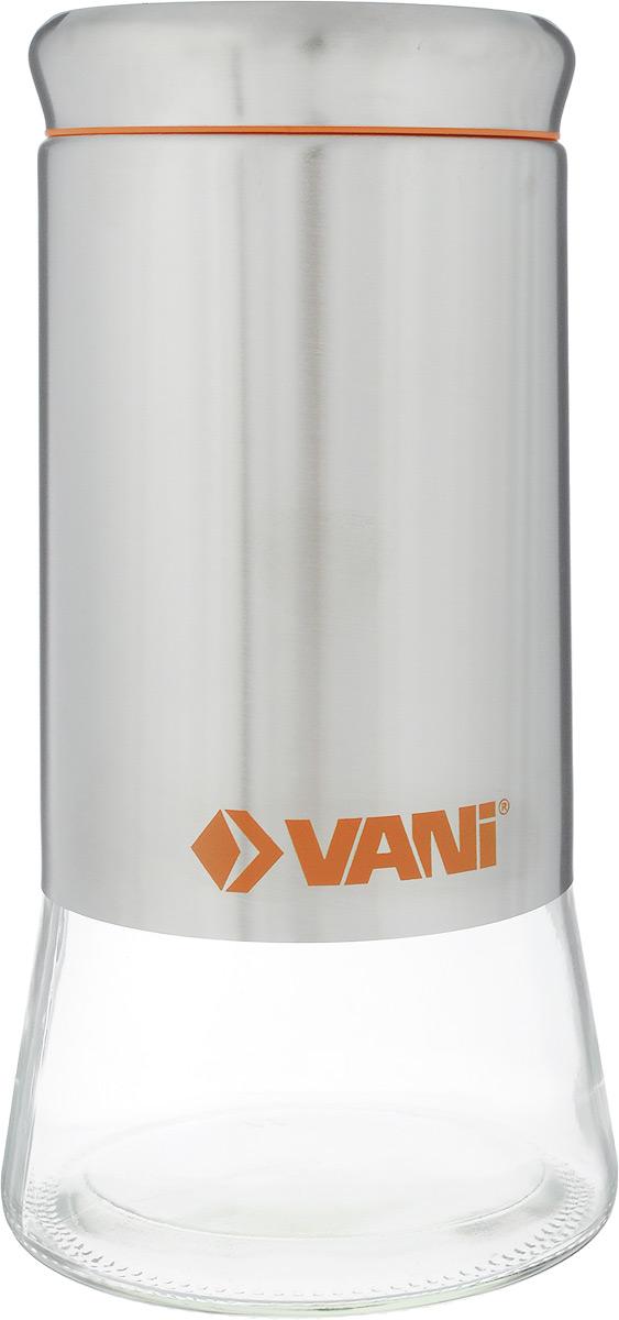Банка для сыпучих продуктов VANI, 1,45 лV9011Банка для хранения сыпучих продуктов VANI станет незаменимым аксессуаром на любой кухне. Она предназначена для компактного хранения сыпучих продуктов, что позволяет экономить место на полке. Ее корпус изготовлен из экологически чистого стекла из высококачественной нержавеющий стали, что обеспечивает длительный срок эксплуатации изделия. Кроме того, прозрачные стенки данной модели позволяют вам контролировать остаток содержимого в банке. Для наилучшей сохранности продуктов крыша снащена пластиковым уплотнителем. Объем емкости: 1,45 л. Размер: 23 х 11 х 11 см.