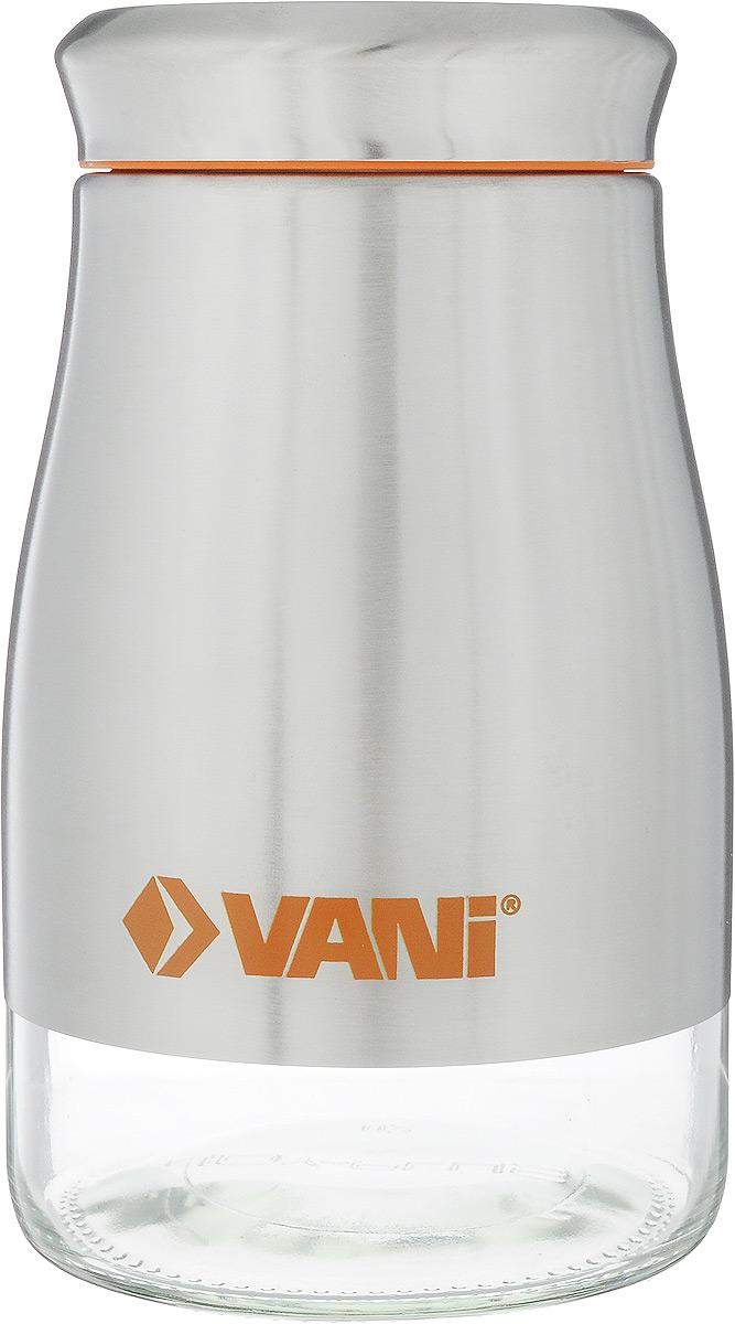 Банка для сыпучих продуктов VANI, 1,25 лV9002Банка для хранения сыпучих продуктов VANI станет незаменимым аксессуаром на любой кухне. Она предназначена для компактного хранения сыпучих продуктов, что позволяет экономить место на полке. Ее корпус изготовлен из экологически чистого стекла и высококачественной нержавеющий стали, что обеспечивает длительный срок эксплуатации изделия. Кроме того, прозрачные стенки данной модели позволяют вам контролировать остаток содержимого в банке. Для наилучшей сохранности продуктов крышка освещена пластиковым уплотнителем. Объем емкости: 1,25 л. Размер: 19 х 11 х 11 см.