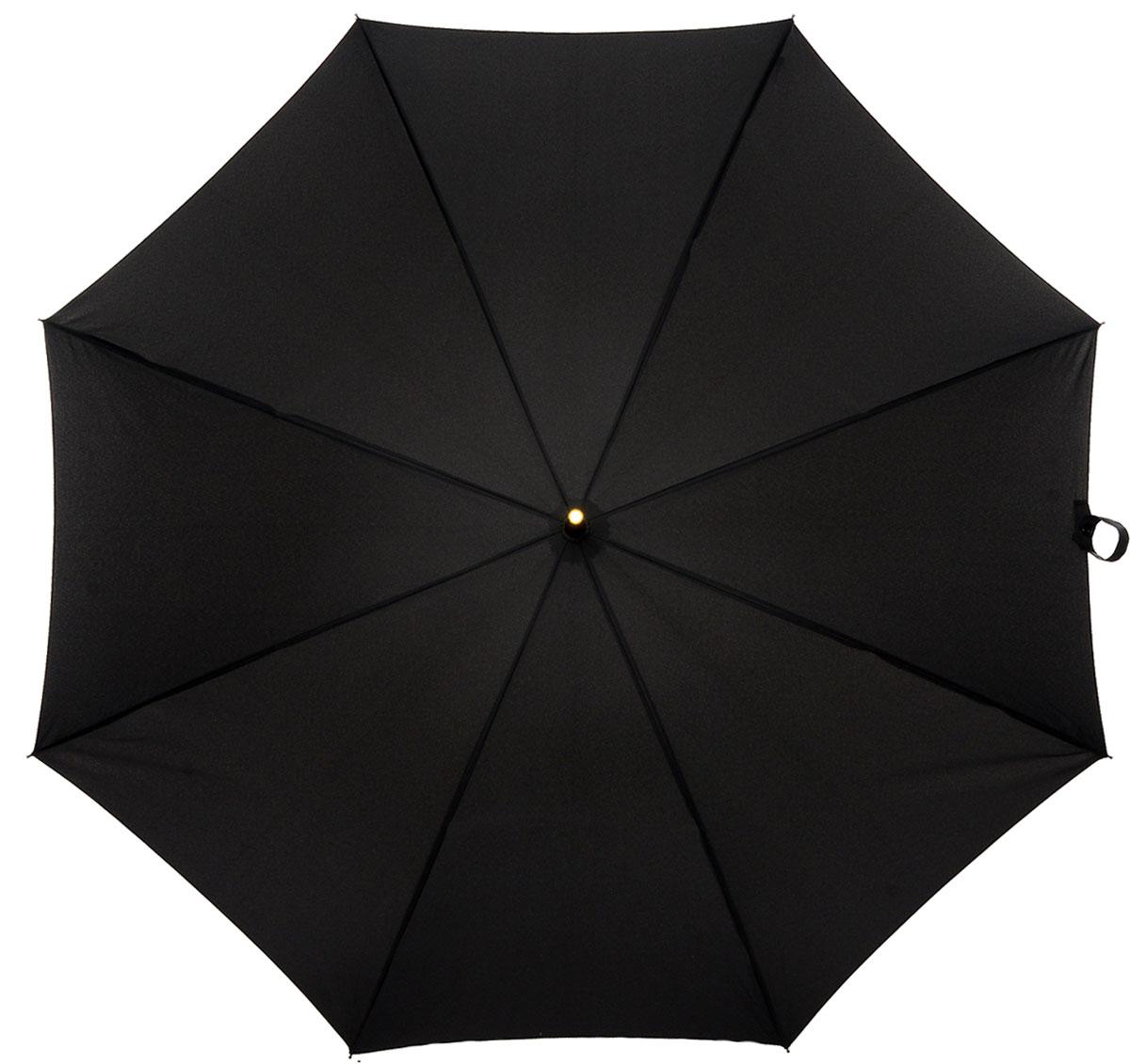 Зонт-трость мужской Fulton, механика, цвет: черный. G801-01G801-01 BlackЗонт-трость Fulton надежно защитит от непогоды. Купол выполнен из высококачественного полиэстера, который не пропускает воду. Каркас зонта, выполненный из прочного металла, состоит из восьми спиц. Зонт имеет механический тип сложения: открывается и закрывается вручную до характерного щелчка. Удобная ручка изогнутой формы выполнена из натуральной кожи.