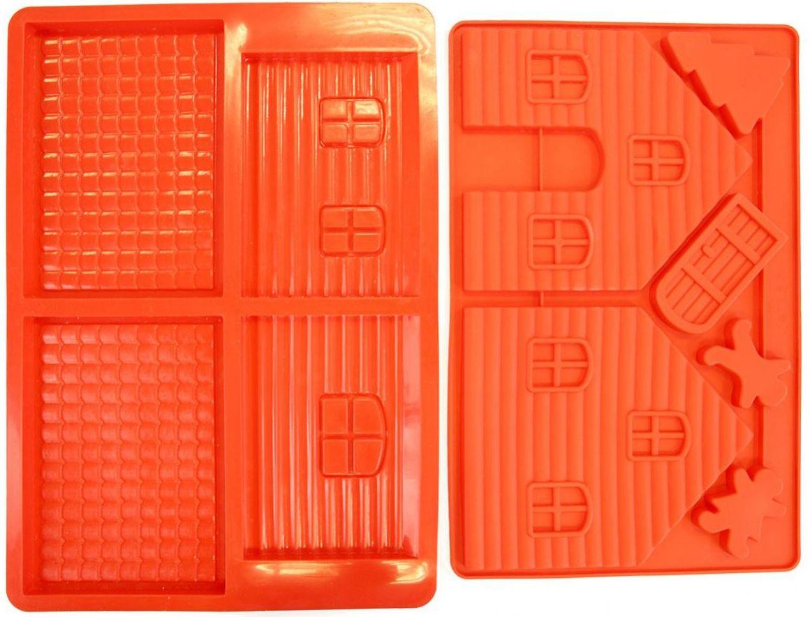 """Форма для выпечки Bradex """"Пряничный домик"""", цвет: красный TK 0231"""