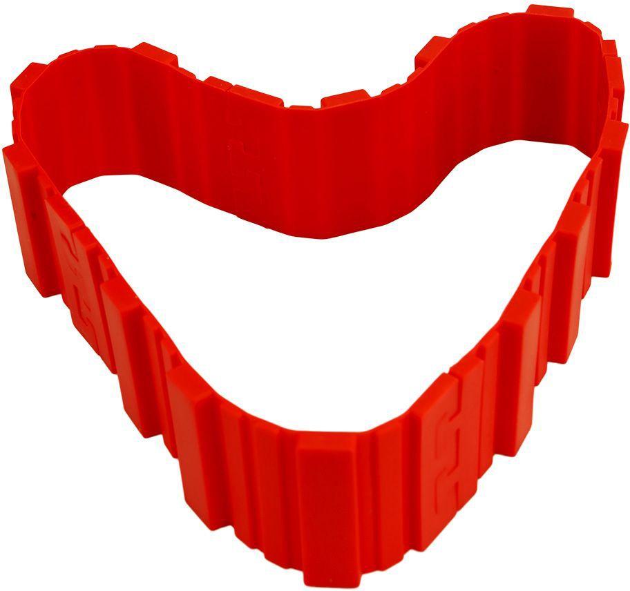 Форма-трансформер Bradex Затея, для выпечки, цвет: красныйTK 0232Хотите удивлять домашних и гостей тортами, пирогами и кексами необычной формы? С формой-трансформером ЗАТЕЯ Вы сможете без труда затмить профессионального кондитера! - Силиконовая форма состоит из четырех элементов, которые легко скрепляются между собой, принимая любое очертание и размер. - Пеките оригинальные торты, пироги, кексы, маффины, пирожные и пончики, легко придавая им форму цифр, букв, зверей или геометрических фигур. - Форма-трансформер не требует обильного смазывания маслом. - Приспособление просто мыть: остатки выпечки легко отстают от силиконовой поверхности. - После использования форма разбирается на небольшие составляющие и занимает минимум места, не загромождая кухню. Приобретите славу креативного кулинара с формой-трансформером для выпечки ЗАТЕЯ!
