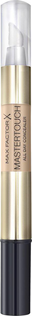 Max Factor Корректор Mastertouch Under-eye Concealer 303 тон ivory 10 мл81486736Хочешь, чтобы твоя кожа всегда выглядела так же безупречно, как у супермоделей? Корректор Max Factor Mastertouch испытан профессиональными визажистами за кулисами самых серьезных модных показов. С этим удивительным продуктом и ты сможешь сделать профессиональный макияж. Удобная форма карандаша позволяет наносить средство быстро и равномерно, а точно рассчитать необходимое количество корректора можно благодаря простому в использовании аппликатору в виде спонжа. Легкая текстура скрывает несовершенства кожи и маскирует темные круги под глазами. Формула Благодаря формуле со светоотражающими частицами и выравнивающему кожу аппликатору корректор идеально сливается с кожей, делая ее безупречной. Корректор Max Factor Mastertouch с солнцезащитным фактором SPF 10 защищает кожу от солнечных лучей.