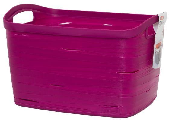 Корзина универсальная Curver Ribbon, цвет: фиолетовый, 38 x 29 x 24 см00719-437Универсальная корзина Curver Ribbon изготовлена из высококачественного пластика. Стенки оформлены перфорацией. Корзина предназначена для хранения различных предметов в ванной, на кухне, на даче или в гараже. Позволяет хранить мелкие вещи, исключая возможность их потери. Изделие оснащено удобными ручками по бокам.
