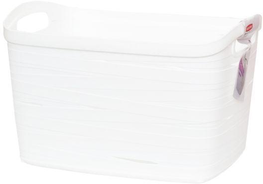 Корзина универсальная Curver Ribbon, цвет: белый, 38 x 29 x 24 см00719-X07Корзина универсальная Curver Ribbon, цвет: белый, 38 x 29 x 24 см