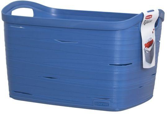 Корзина универсальная Curver Ribbon, цвет: синий, 38 x 29 x 24 см00719-X08Корзина универсальная Curver Ribbon, цвет: синий, 38 x 29 x 24 см