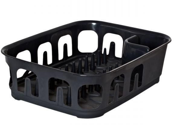 Сушилка для посуды Curver Essentials, цвет: темно-серый00743-308-00Сушилка для посуды Curver Essentials, цвет: темно-серый
