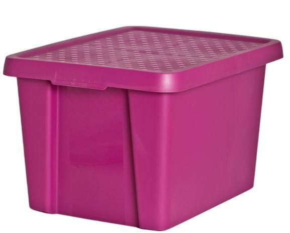 Коробка для хранения Curver Essentials, с крышкой, цвет: фиолетовый, 26 л00755-437-00Коробка для хранения Curver Essentials, с крышкой, цвет: фиолетовый, 26 л