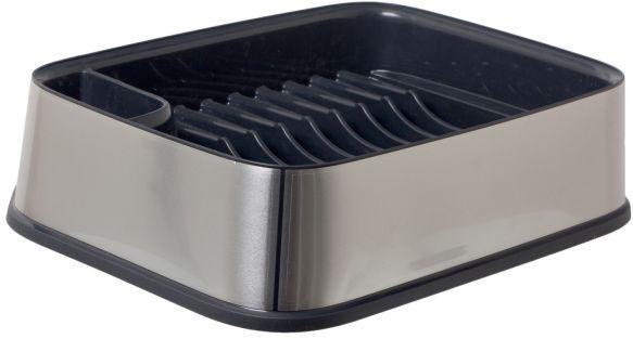 Сушилка для посуды Curver Premium, цвет: серебристый, черный, 29,5 х 39,5 х 10 см02332-216-00Сушилка для посуды Curver Premium изготовлена из высококачественного прочного пластика. Изделие оснащено пластиковым поддоном для стока воды и содержит секции для вертикальной сушки посуды и столовых приборов. Сушилка для посуды Curver Premium не займет много места на кухне и поможет аккуратно хранить вашу посуду