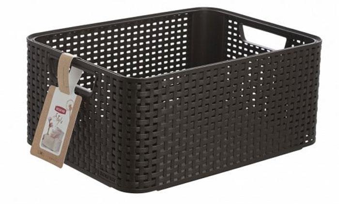 Корзина универсальная Curver Rattan Style Box, цвет: темно-коричневый. 03615-210-0003615-210-00Корзина универсальная Curver Rattan Style Box, цвет: темно-коричневый. 03615-210-00