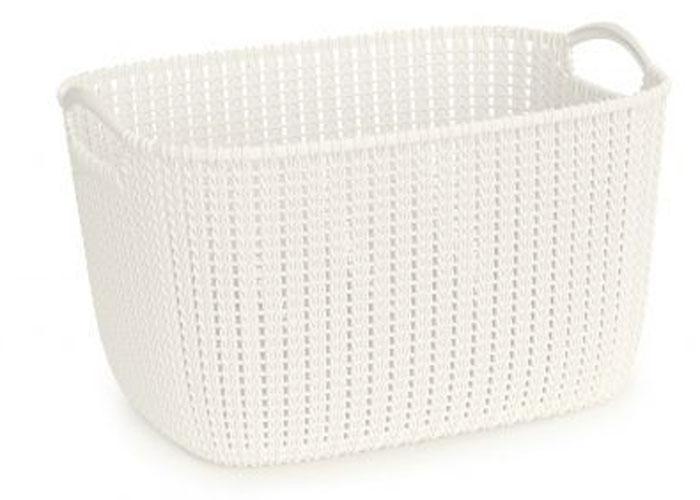 Корзина универсальная Curver Knit, цвет: белый, 19 л03670-X64-00Корзина универсальная Curver Knit, цвет: белый, 19 л