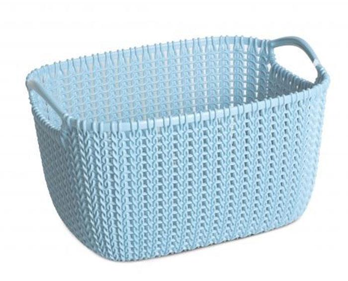 Корзина универсальная Curver Knit, цвет: морская волна, 8 л03674-X65-00Универсальная корзина Curver Knit изготовлена из высококачественного пластика и оформлена декоративной перфорацией под плетение. Для дополнительного удобства корзина имеет удобные ручки. Такая корзина непременно пригодится в быту, в ней можно хранить кухонные принадлежности, специи, аксессуары для ванной и другие бытовые предметы.
