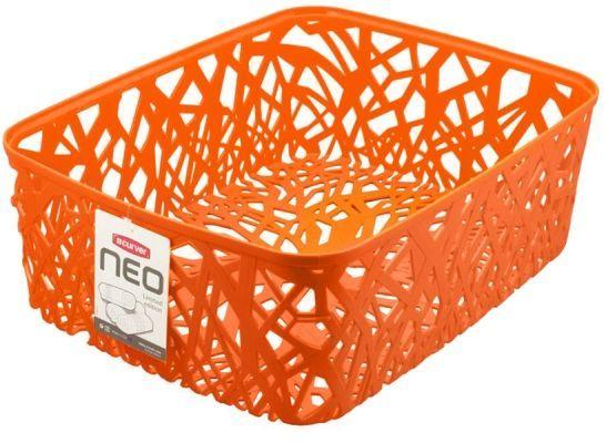 Корзина универсальная Curver Neo Colors, цвет: оранжевый04161-370-03Корзина универсальная Curver Neo Colors, цвет: оранжевый