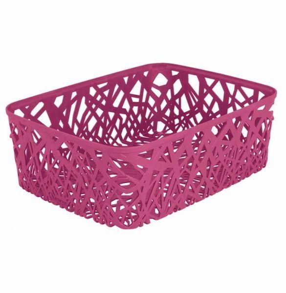 Корзина универсальная Curver Neo Colors, цвет: розовый04161-437-03Корзина универсальная Curver Neo Colors, цвет: розовый