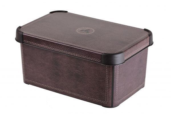Ящик для хранения Curver Стокгольм. Leather, цвет: коричневый, 6 л04710-D12Ящик для хранения Curver Стокгольм. Leather, цвет: коричневый, 6 л
