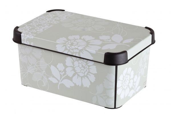 Ящик для хранения Curver Стокгольм. Romance, цвет: серый,6 л04710-D64Ящик для хранения Curver Стокгольм. Romance, цвет: серый,6 л