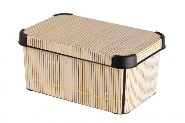 Ящик для хранения Curver Стокгольм. Bamboo, 6 л04710-D67Ящик для хранения Curver Стокгольм. Bamboo, 6 л