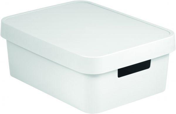 Коробка для хранения Curver Infinity, с крышкой, цвет: белый, 11 л04752-N23-00Коробка для хранения Curver Infinity изготовлена из высококачественного пластика. Идеально подходит для хранения мелочей для ванной и различных бытовых вещей. Изделие оснащено крышкой и удобными ручками по бокам.