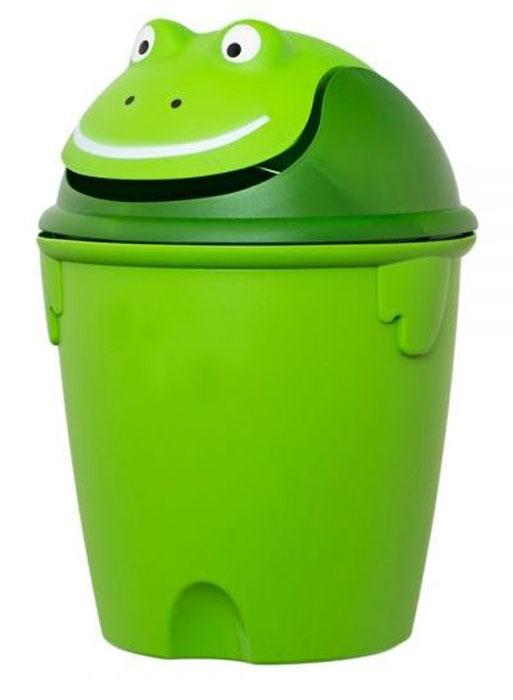 Контейнер для мусора Curver Лягушка, 26 х 26 х 37 см07120Контейнер для мусора Curver Лягушка изготовлен из высококачественного пластика. Изделие оснащено плавающей крышкой, выполненной в виде мордашки лягушки. Вы можете использовать такой контейнер для выбрасывания разных пищевых и не пищевых отходов. Контейнер для мусора Curver Лягушка - это не только емкость для хранения мусора, но и яркий предмет декора, который оригинально украсит интерьер кухни или ванной комнаты. Размер контейнера (с учетом крышки): 26 х 26 х 37 см. Размер контейнера (без учета крышки): 26 х 26 х 25 см.
