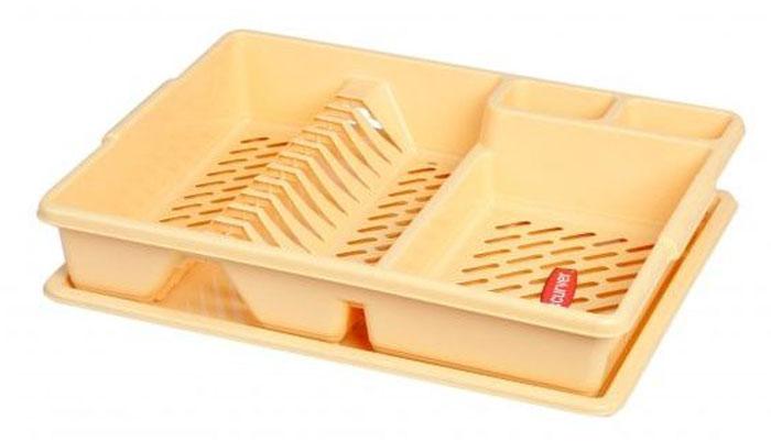 Сушилка для посуды Curver, цвет: желтый. 13401-24413401-244Сушилка для посуды Curver, цвет: желтый. 13401-244