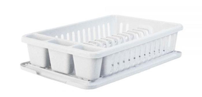 Сушилка для посуды Curver Мини, с поддоном, цвет: светло-серый, 42 х 26,5 х 8,2 см13402-119Сушилка для посуды Curver Мини изготовлена из высококачественного прочного пластика. Изделие оснащено пластиковым поддоном для стекания воды и содержит секции для вертикальной сушки посуды и столовых приборов. Такая сушилка не займет много места на кухне и поможет аккуратно хранить вашу посуду. Размер сушилки: 42 см х 26,5 см х 8,2 см. Размер поддона: 42,5 см х 27,5 см х 1,2 см.